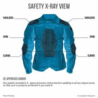 Viking Cycle Ironborn Women's Motorcycle Textile Jacket X-Ray Image Back View