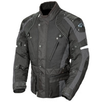 Joe Rocket Ballistic Revolution Textile Jacket Gray Front Side View