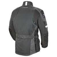 Joe Rocket Ballistic Revolution Textile Jacket Gray Back Side View