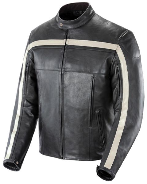Joe Rocket Old School Jacket Black Front Side View