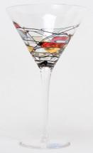 Milano Noir Martini Glasses Set/4