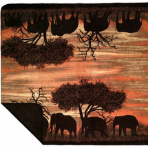 Sunset Elephants Microplush Throw by Denali