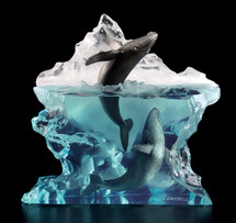 "Starlite Originals ""Surfacing"" Humpback Whales Sculpture"
