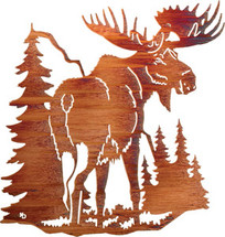 """Northern Territory"" Moose Wall Art by Lazart"