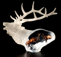 """Proud Spirit"" Elk Sculpture by Kitty Cantrell"