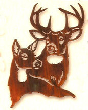 Summer Romance - Deer Metal Wall Art