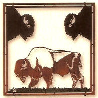 Buffalo Framed Metal Wall Art