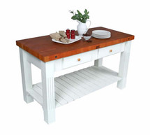 John Boos Grazzi Cherry Kitchen Island Table