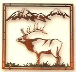 """Far To Go"" Framed -Elk Metal Wall Art"