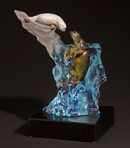 """Kitty Cantrell """"Seal It With A Kiss"""" Harp Seal Sculpture"""