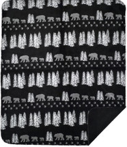 Black Bear Microplush Throw