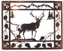 """Aspen Retreat"" Elk Metal Wall Art by Lazart"