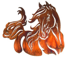 Windy 28in. Metal Horse Wall Art