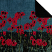 "Poppies Microplush Throw 50"" x 60"""