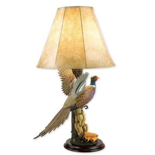 Wildlife Pheasant Table Lamp by Loon Lake Decoys