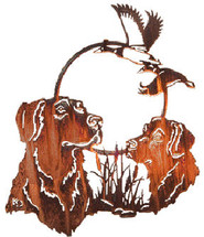 "Lazart ""Hunting Pals Dog"" Metal Wall Art"