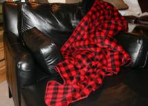 Red & Black Buffalo Check Microplush Throw