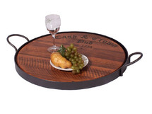 Cask and Crown Serving Tray