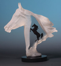 """""""Royal Arabian"""" Horse Sculpture by Kitty Cantrell"""