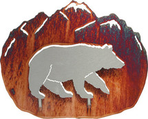 3D Bear Metal Wall Art