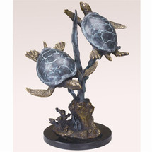 Turtle Duet Sculpture