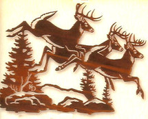 """Catch The Wind"" - Deer Metal Wall Art by Lazart"