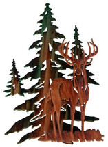 3D Whitetail Deer Metal Wall Art