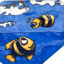 """Fish and Bee"" Microsoft Mini Throw 30"" x 36"""