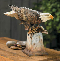 Free Reign - Bald Eagle Sculture by Stephen Herrero