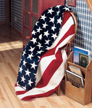 """Stars & Stripes"" Microplush Throw 50"" x 60"""