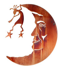Kokopelli In The Moon Metal Wall Art