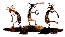 Dancing Kokopellis Metal Wall Art