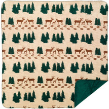 "Deer Microplush Throw 50"" x 60"""