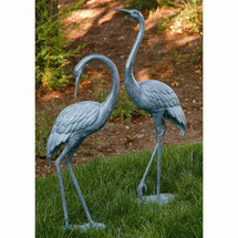 Medium Brass Garden Crane Pair by SPI