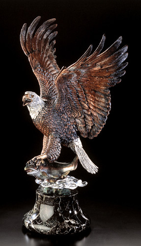 Over The Rainbow Eagle Sculpture by Kitty Cantrell