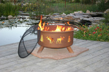 "Patina ""Moose & Tree"" Outdoor Fire Pit"