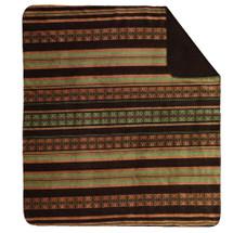 Dark Chocolate Stripe Denali Microplush Throw