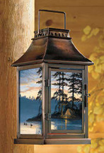 Peace and Quiet Loons Candle Lantern