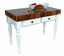 John Boos Rustica Walnut Top Table