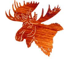 "Moose Sculptures: North Face 24"""