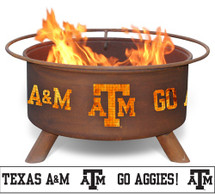 Patina Texas A&M Collegiate Portable Outdoor Fire Pit