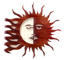 Wrapped Sun Moon Metal Wall Art