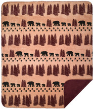Wheat Denali Bear Denali Microplush Throw