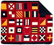 Nautical Flags Microplush Throw
