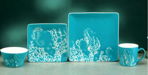 Seahorse - Sea and Coastal Life Dinnerware Set/16