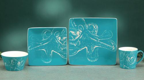 Octopus 4 Piece - Single Place setting Dinnerware