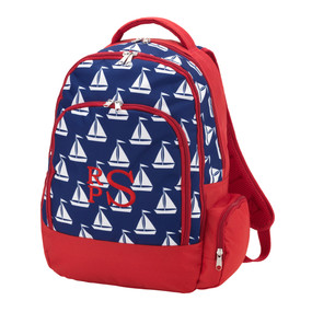 Monogrammed Sail Away Backpack