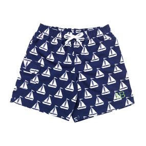 Monogrammed Sail Away Swim Trunks