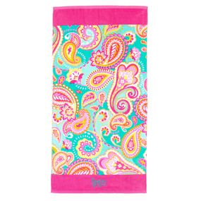 Monogrammed Summer Paisley Beach Towel