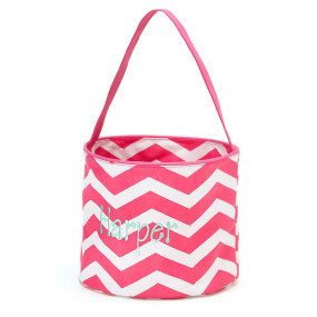 Monogrammed Chevron Accessory Easter Bucket